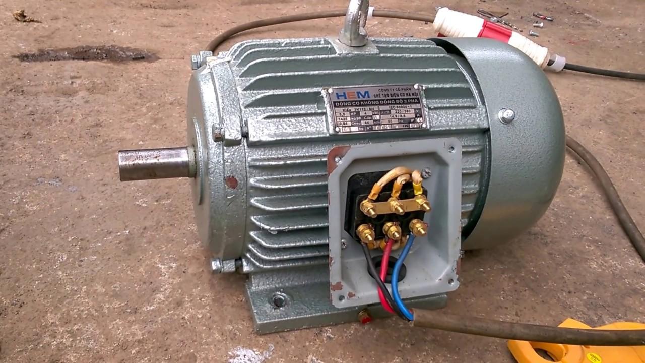 Cách đấu dây động cơ điện motor 3 pha