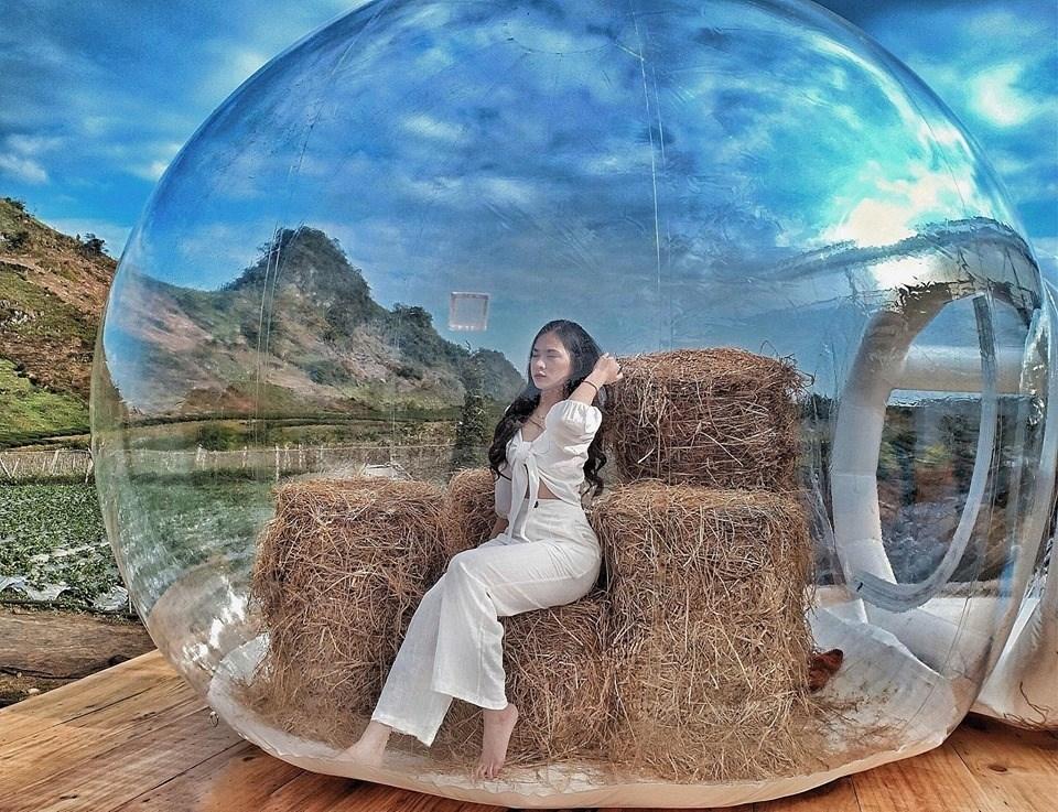 Nhà bong bóng siêu xinh tại Mộc Châu